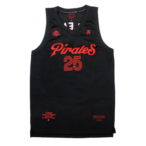 """PIRATES"" <br /> black jersey basket"