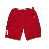 """MIRACLES"" red shorts basket"