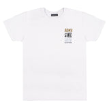 """ROMA CELEBRATION""  gold & reflective white t-shirt"