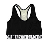 """5OM x BLACK ON"" black top"