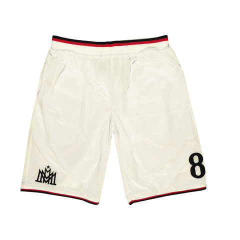 """MIRACLES"" white shorts basket"