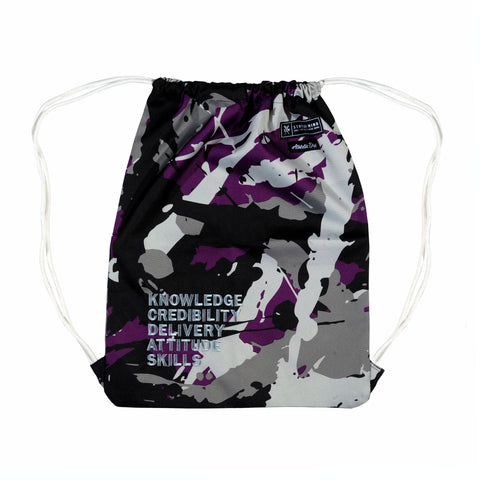 """5 RULES""  Syrup art camo Gym bag"