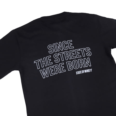 """SINCE THE STREETS"" black reflective t-shirt"
