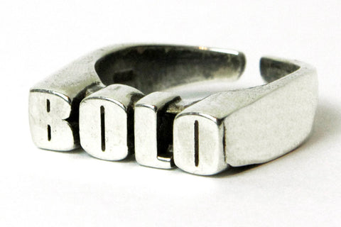 """BOLO CELEBRATION"" 5OMxGLORIOUS <br /> silver ring"