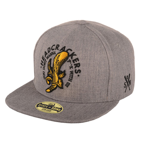 """HEADCRACKERS"" <br /> snapback heater grey"