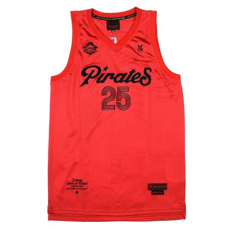 """PIRATES"" <br /> red jersey basket"