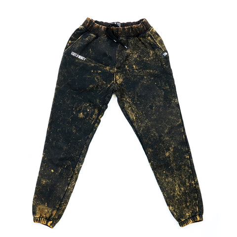 """BOX LOGO"" jogger pants bleach"