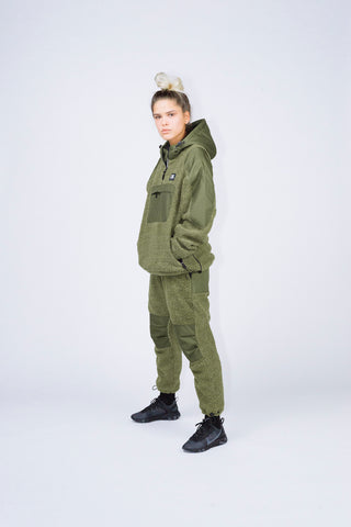 """RETROFUTURE"" sherpa pants military green"