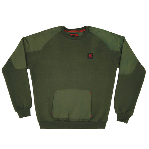 """RETROFUTURE"" Tech Sweatshirt dark olive"