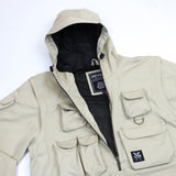 """RETROFUTURE""  modulable ripstop jacket/vest"