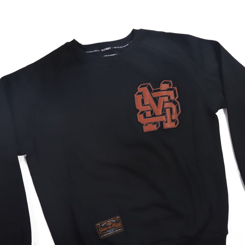 """ALL STAR / MONOGRAM"" Black sweatshirt"