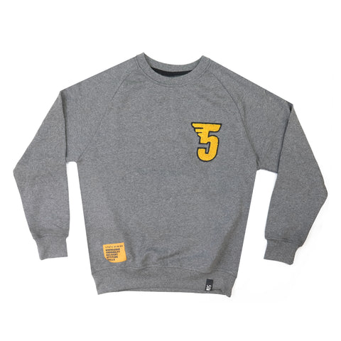 """5 Rules"" sweatshirt heater grey"