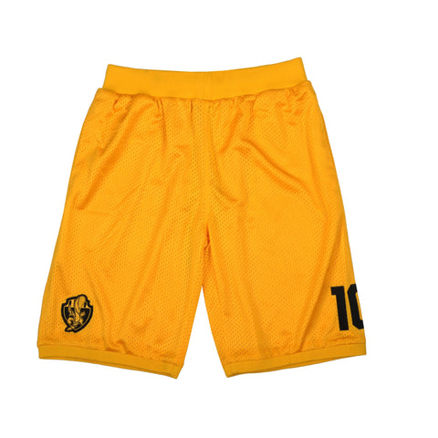 """HEADCRACKERS"" <br /> yellow shorts basket"