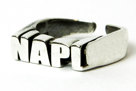 """NAPL CELEBRATION"" 5OMxGLORIOUS <br /> silver ring"
