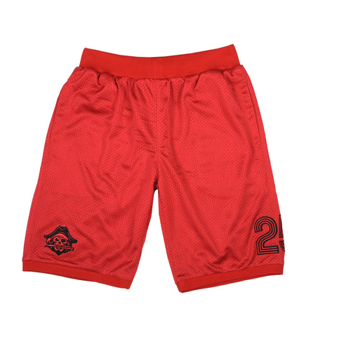 """PIRATES"" <br /> red shorts basket"