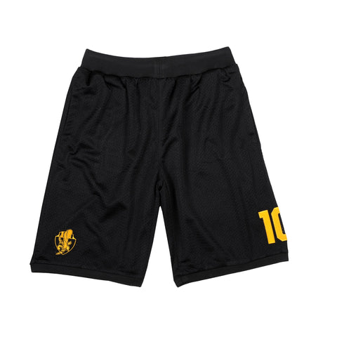 """HEADCRACKERS"" <br /> black shorts basket"