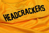 """HEADCRACKERS"" <br /> yellow jersey basket"