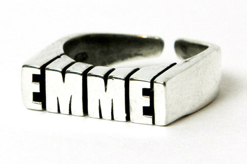 """EMME-I CELEBRATION"" 5OMxGLORIOUS <br /> silver ring"