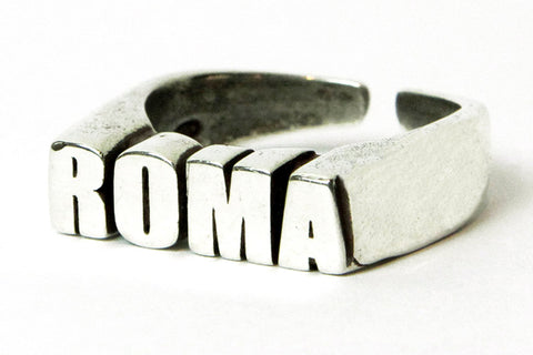"""ROMA CELEBRATION"" 5OMxGLORIOUS <br /> silver ring"