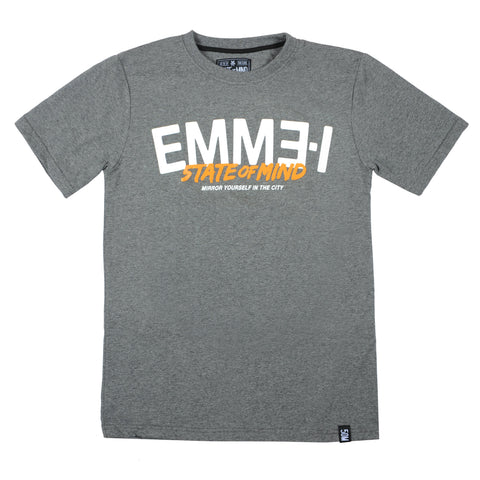 """EMME-I 5OM"" <br /> t-shirt dark heater"