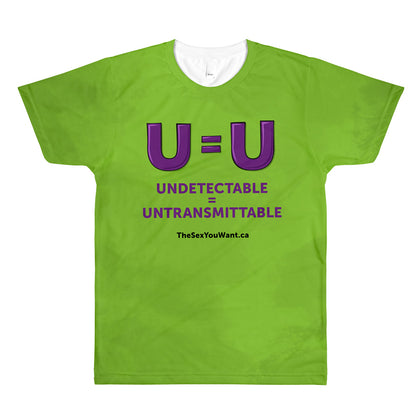 """U=U"" T-Shirt - Green (English)"