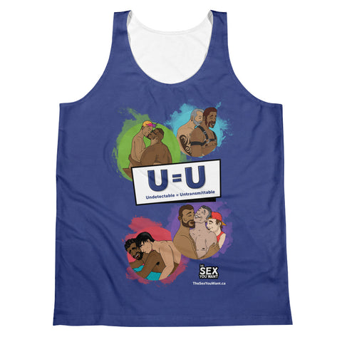 """U=U"" Tank Top - Navy (English)"