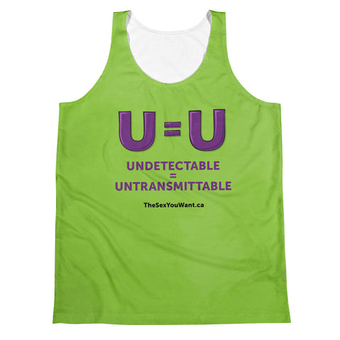 """U=U"" Tank Top - Green (English)"
