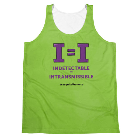 """U=U"" Tank Top - Green (French)"