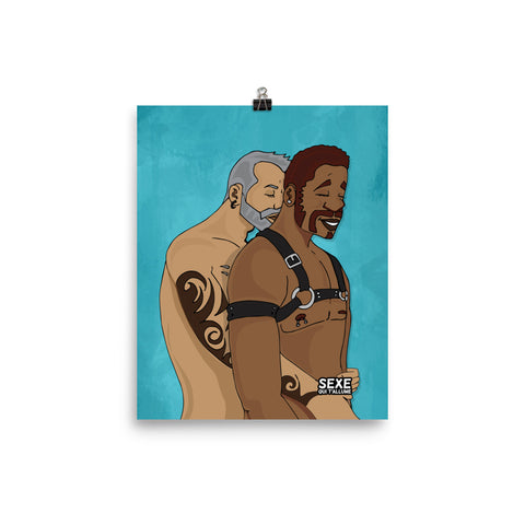 """Harness Hook-up"" Wall Art Poster (French Logo)"