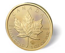 Load image into Gallery viewer, 1 Oz Gold Maple