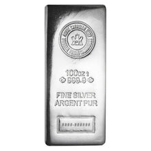 Load image into Gallery viewer, 100 Oz Silver Bar