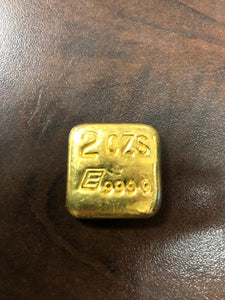 2 oz Englehard gold poured