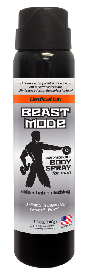 Beast Mode - Men's Post Workout Body Spray 3.5oz (DEDICATION)