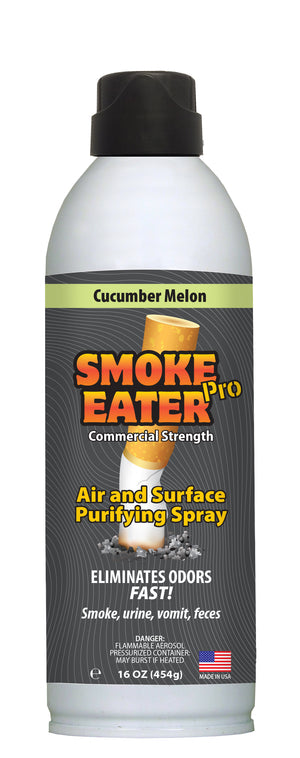 Smoke Eater Pro 16 oz Commercial Strength Fabric Odor Eliminator (Cucumber Melon)
