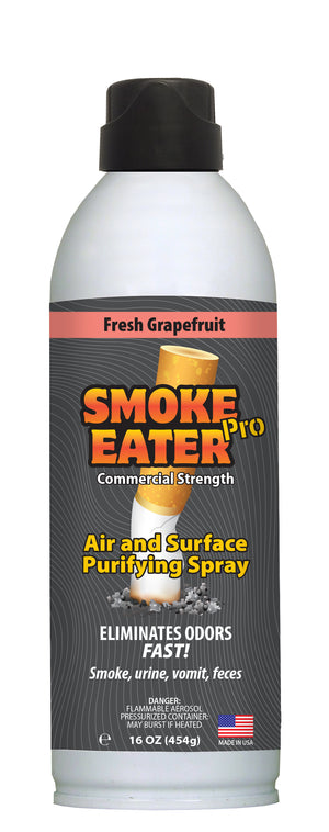 Smoke Eater Pro 16 oz Commercial Strength Fabric Odor Eliminator (Fresh Grapefruit)
