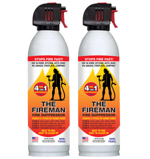 The Fireman - Fire Suppressor 18oz (2 Can Pack)