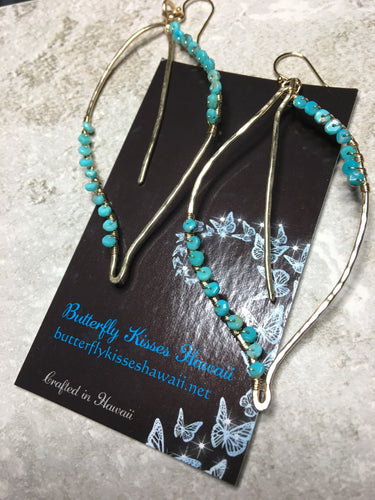 Turquoise Maile Earrings