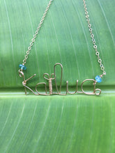 "Load image into Gallery viewer, Custom ""Handwriting"" Necklace"