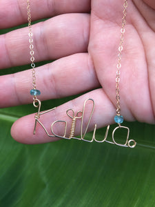 "Custom ""Handwriting"" Necklace"