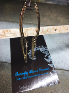 14k Gold Filled Climber Earrings with Chain