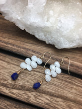 Load image into Gallery viewer, Silverite and Lapis Earrings