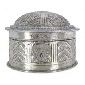Round Aluminium Embossed Box