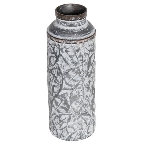 Tall decorative metal vase
