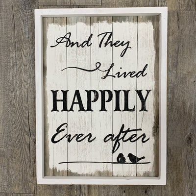 'And they lived happily ever after'- White