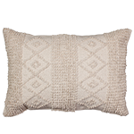 Boho Natural Embellished Cushion