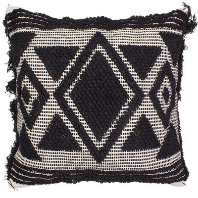 Boho Embellished Cushion- Topaz