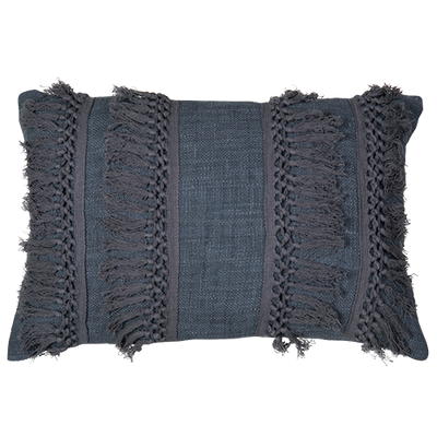 Cotton Cushion with Fringing- 40x60