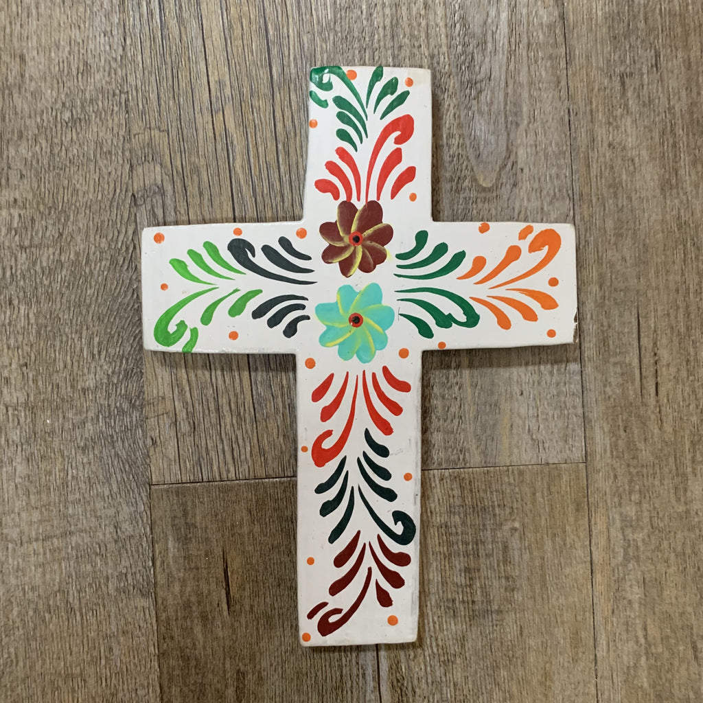 Hand Painted Cross Small- Multicoloured
