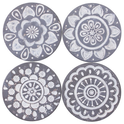 Mandala Resin Coaster Set