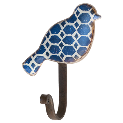 Pressed Metal Bird Wall Hook-Aegean 1